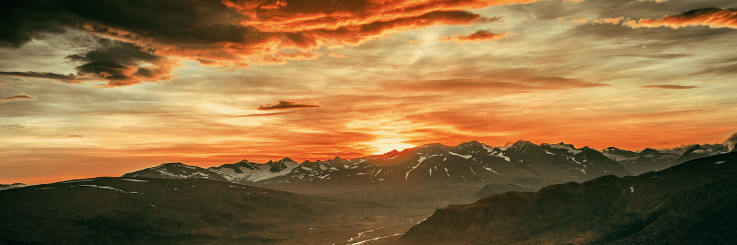 header ingress sarek glacier sunset
