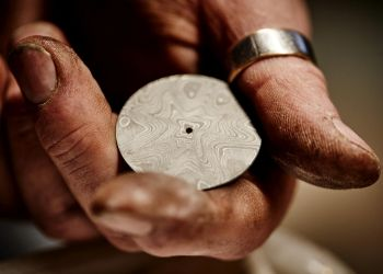 00 Damascus steel wildflower dial ready for etching finishing-1200